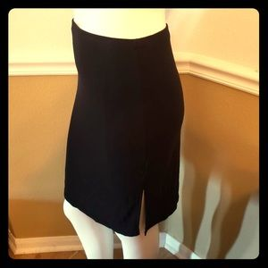 M Black knee length pencil skirt wig small slits